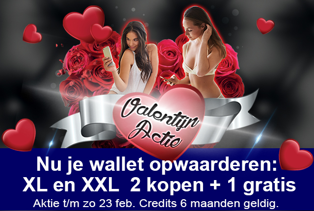 Valentijn 2+1 gratis actie