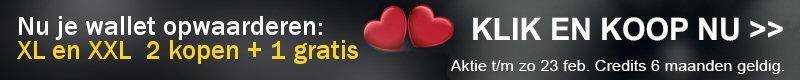 Valentijn 2 plus 1 gratis actie